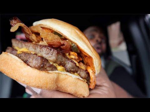 Wendy's Bacon Jalapeno Cheeseburger & Jalapeno Fries!!!