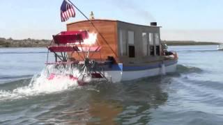 Steam Paddle Wheel Boat    Captain Allan Dunlap