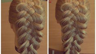 Коса из пяти прядей. Видео-урок. Hair tutorial Hairstyle for long hair