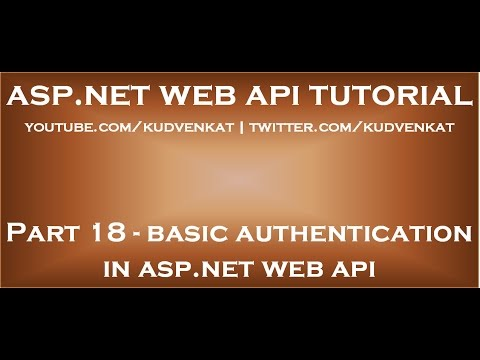 Implementing basic authentication in ASP NET Web API