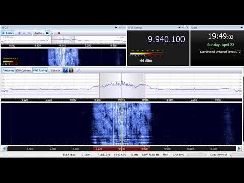 22 04 2018 Trans World Radio Africa in French to CeAf 1935 on 9940 Manzini