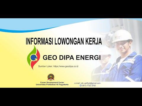 Lowongan Kerja PT Geo Dipa Energi untuk Lulusan SMK, D3 dan Sarjana from YouTube · Duration:  10 minutes 35 seconds