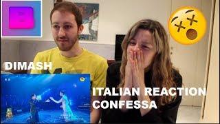 DIMASH - CONFESSA + THE DIVA DANCE ITALIAN REACTION!!!  [THE BABES]