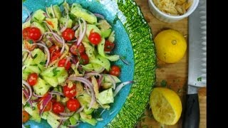 A Classic Caribbean Summer Salad From My Garden.