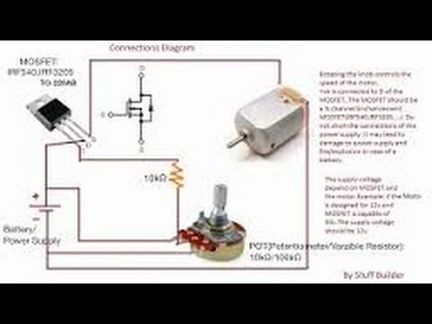 How to control speed of a dc motor using potentiometer and