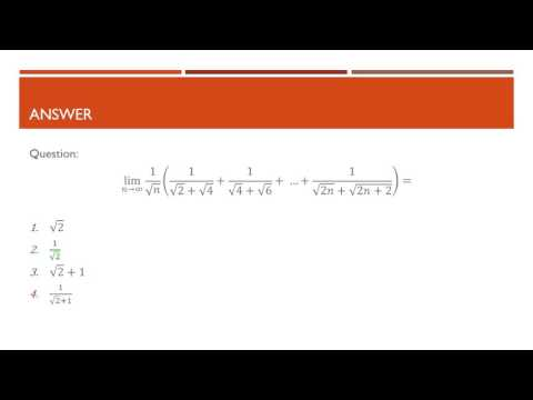 As n tends to infinity: Simple limit problem (CSIR NET Dec 2015 Math.Sci. Part B)