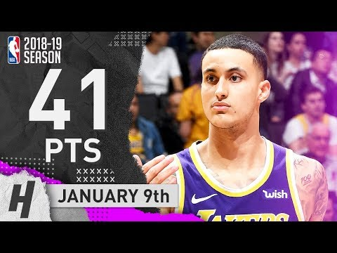 Kyle Kuzma CRAZY Full Highlights Lakers Vs Pistons 2019.01.09 - 41 Points In 3 Qtrs