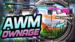 AWM OWNAGE ON SANHOK! THEY HAD US SURROUNDED! PUBG Mobile