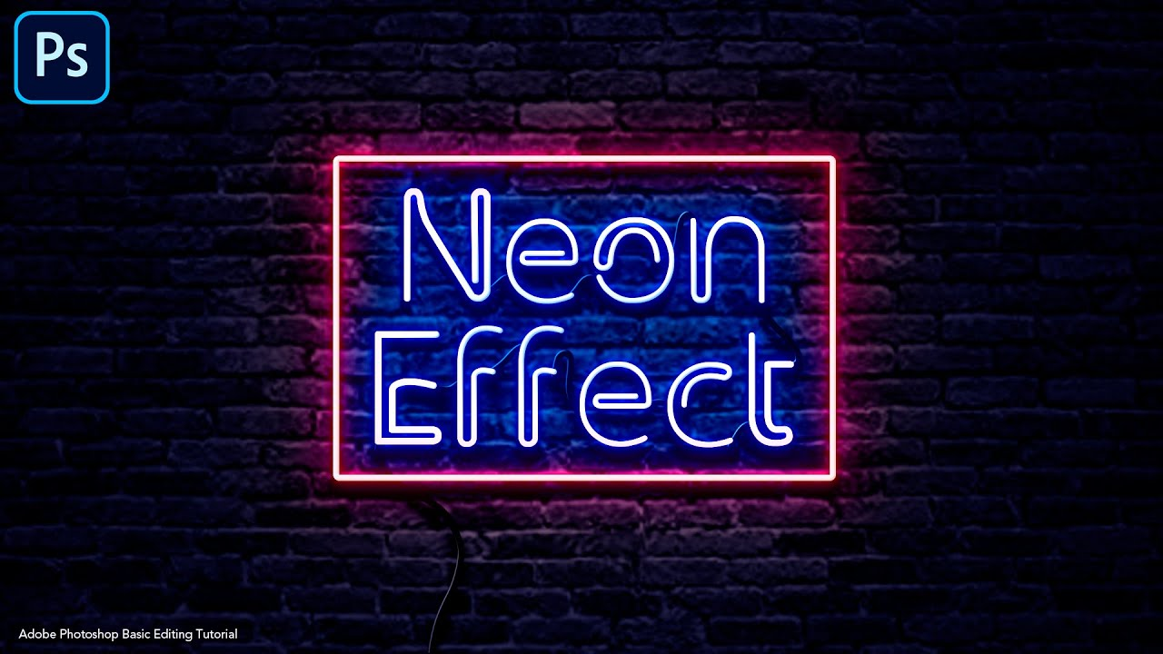 How to make Neon Light Effect in Adobe Photoshop | Basic Editing Tutorial
