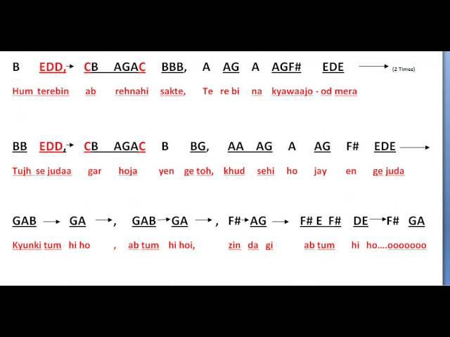 Violin violin chords for tum hi ho : Tum hi ho - Aashiqui 2 full notes for Keyboard - YouTube