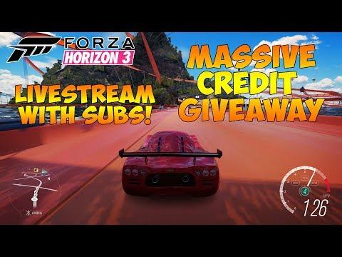Forza Horizon 3 - MASSIVE CREDIT GIVEAWAY LIVESTREAM! WIN CREDITS!