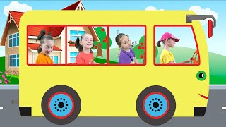 Liza and the funny song Wheels on the Bus | SKORIKI
