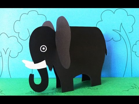 Origami Paper Elephant : How to Make a Paper Elephant Craft | Preschool Kids Craft