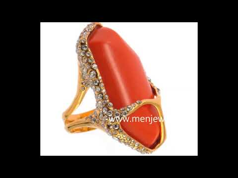 Latest Jewellery Coral /Munga  Ring Design Collection for men by menjewell.com