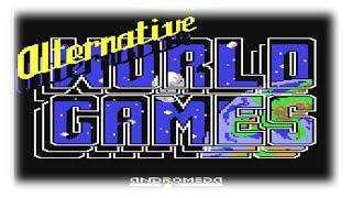 Alternative World Games (C64/1987) - World Games mit SCHWARZEN Humor