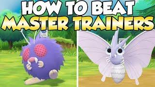 How To Beat Venonat & Venomoth Master Trainers Guide! | Pokemon Let's Go