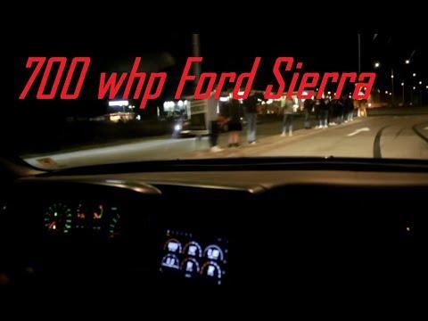 Ford Sierra 700 WHP V8 Turbo Ride Along in Stockholm!