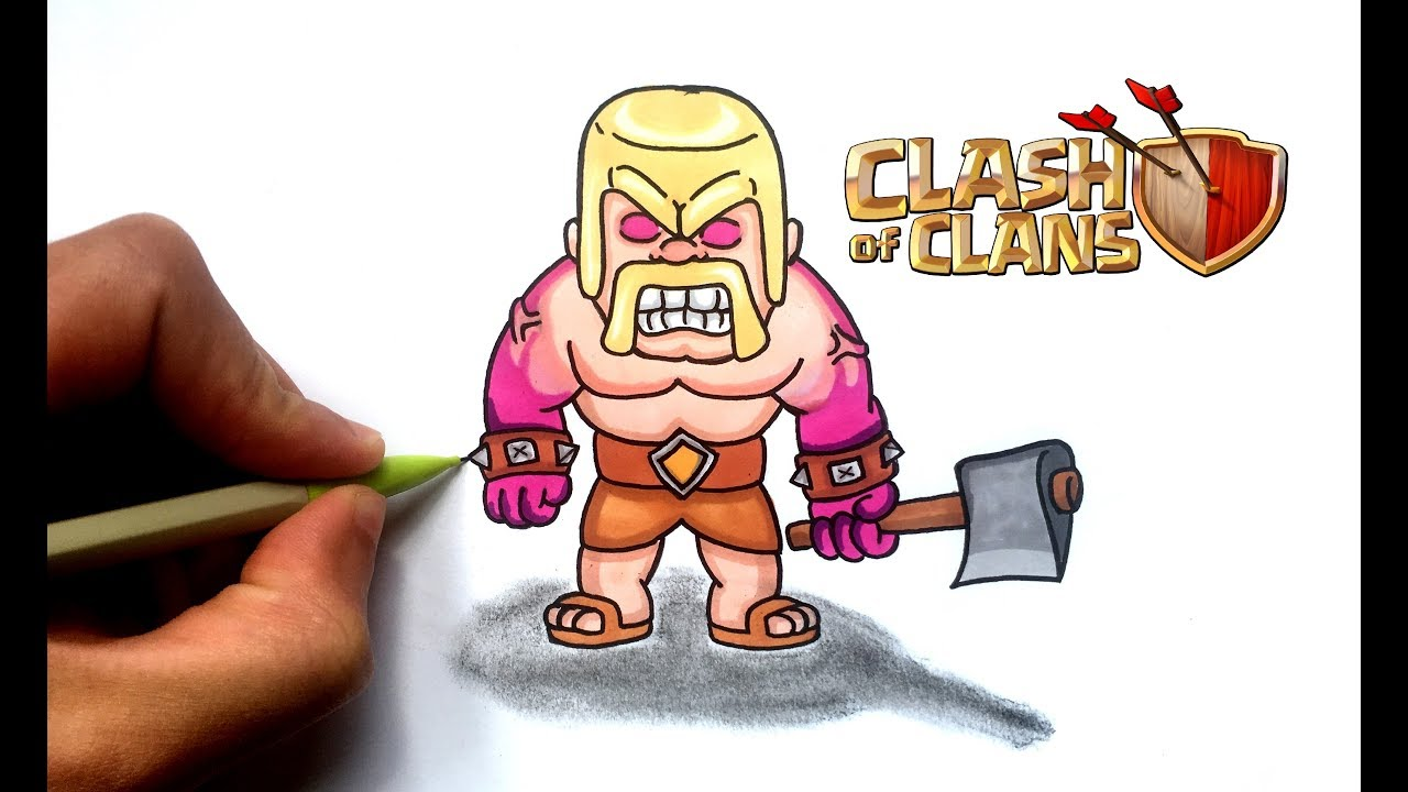 Draw Raged Barbarian Clash Of Clans