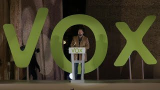 Spain's far-right Vox party leader Santiago Abascal holds final campaign rally ahead of poll | AFP
