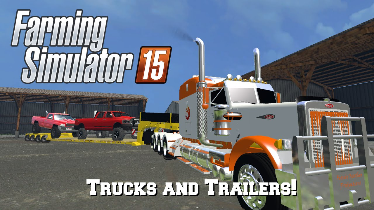 Farming simulator 2015 mod spotlight 51 trucks and trailers youtube