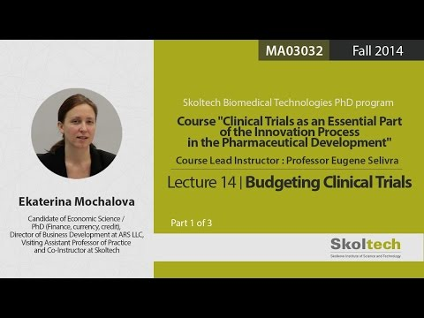 Budgeting clinical trials (Part 1 of 3)