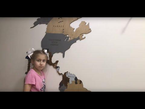 Деревянная карта мира на стену Woodpacker.decor видеоотзыв