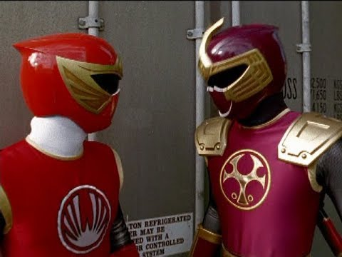 Power Rangers Ninja Storm - Red and Crimson Ranger vs Bopp-A-Roo | Episode 14