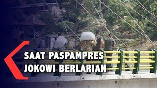 Ketika Paspampres Jokowi Berlarian di Jembatan Bendung Kamijoro
