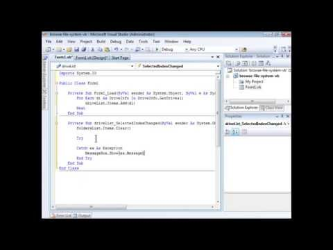 Visual Basic .NET: How to Browse Files, Folders, and Directories