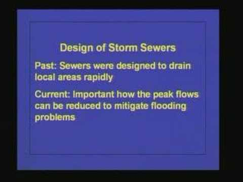 Lecture 39 Stormwater Sewerage System