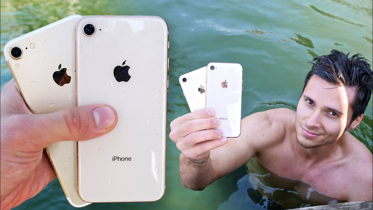 competitive price 34761 2c86e iPhone 8 vs 7 Water Test! Secretly Waterproof?