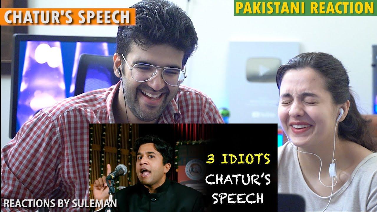 Pakistani Couple Reacts To Chatur's Speech   3 Idiots   Aamir Khan   R Madhavan   Sharman Joshi