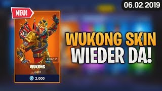 FORTNITE SHOP vom 6.2 - 😳 WUKONG SKIN! 🛒 Fortnite Daily Item Shop von Heute (06 Februar 2019) Detu Detu