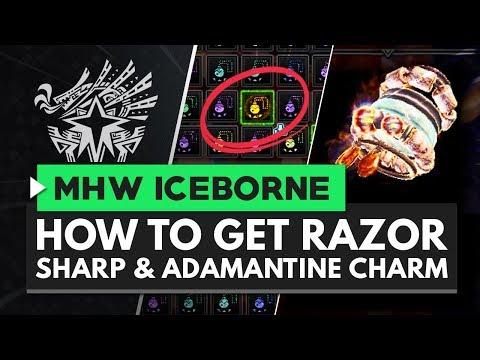 Monster Hunter World Iceborne | How to Get Razor Sharp & Adamantine Charms