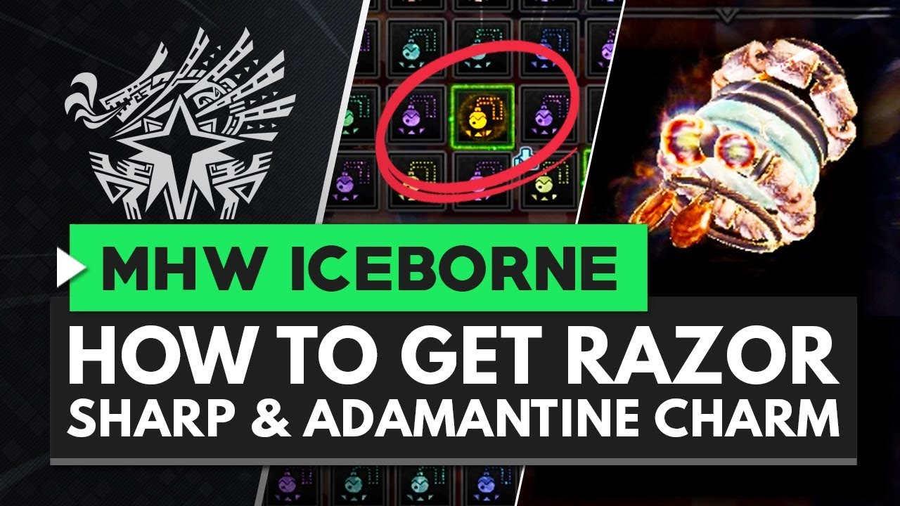 Monster Hunter World Iceborne | How to Get Razor Sharp & Adamantine Charms thumbnail