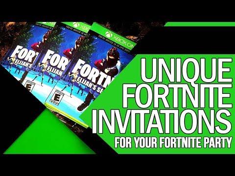 EPIC FORTNITE PARTY INVITATIONS - Game Case Invitations