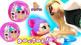 Куклы ЛОЛ у Зубного Врача Мультик #LOL Surprise Baby dolls go to Babrie Dentist Doctor Pretend Play