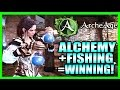 Alchemy + Fishing = Winning! How to Level Up Alchemy FAST! Archeage Guides and Impressions Part 5