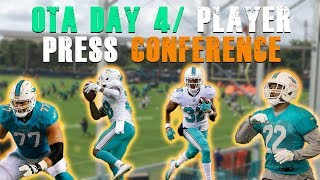 Dolphin's OTAs Day 4/ Player Press Conference [Miami Dolphins Fan Reaction]