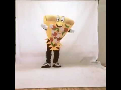 Have a Slice Cute Brown Cheese Pizza Mascot Costume
