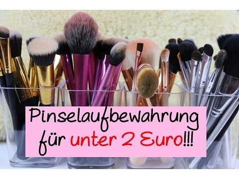 pinselaufbewahrung f r unter 2 euro b rbel sch fer youtube. Black Bedroom Furniture Sets. Home Design Ideas