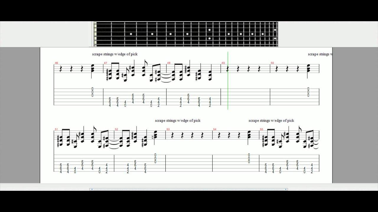 American Idiot Green Day Guitar Tutorial Guitar Pro Tabs