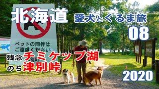 【車中泊】北海道 中年夫婦と愛犬とキャンピングカーの旅 2020 EP 08  ペット同伴禁止だったチミケップ湖【くるま旅】