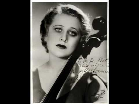 Raya Garbousova / David Stimer: Cello Sonata in C major, Op. 119 - Movement 1 (Prokofiev, 1948)