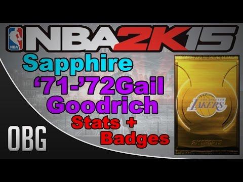 NBA2K15 MyTeam: Sapphire Gail Goodrich Stats + Badges!!!