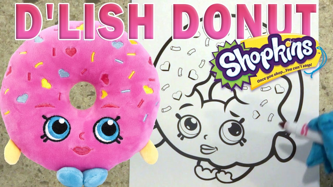 Dlish donut shopkins coloring pages how to color super fun video