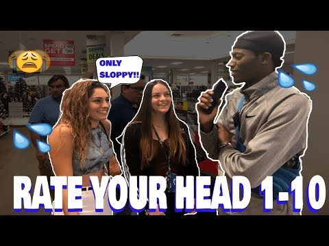 RATE YOUR HEAD 1-10(She gives SloppyToppy😫💦🤯)|Public Interview
