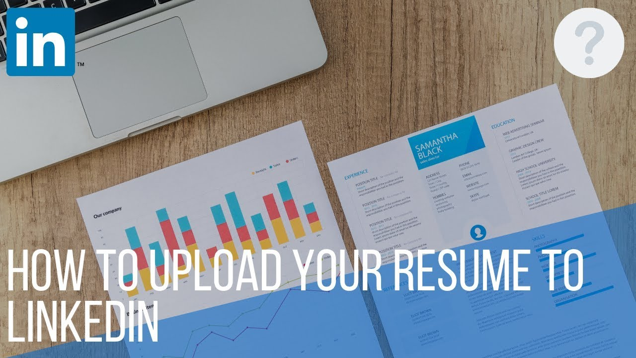 how to upload resume on linkedin