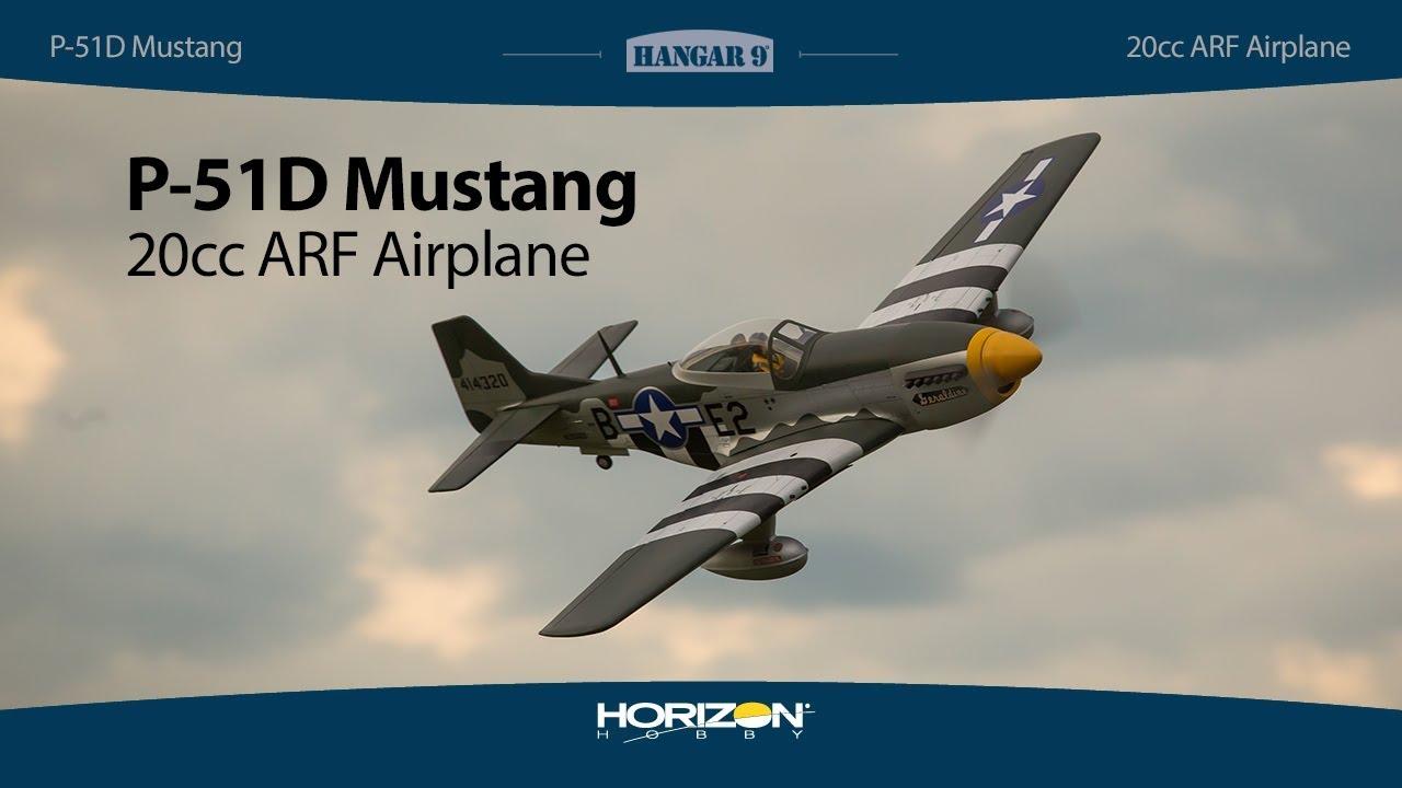 Hangar 9 Mustang RC Plane, 20cc, ARF