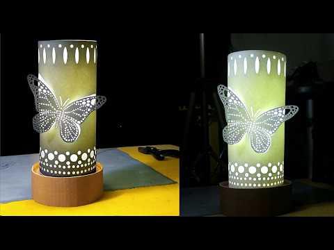 Paper Cut lampshade Making